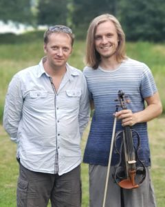 Me and Patrick Bieszke with his violin